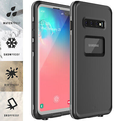 For Samsung Galaxy S10 Plus Waterproof Case Shockproof Built-in Screen Protector