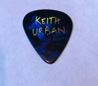 Keith Urban - 2011 Tour Issued Guitar Pick Blue Marble Double Sided Country