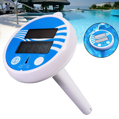 Digital Swimming Pool Floating Solar Thermometer Fish Pond Spa Gauge Water Tool