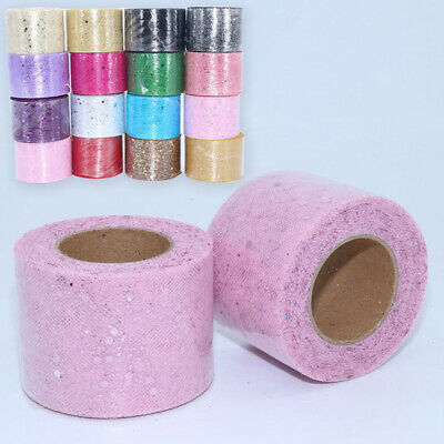 Glitter Gift Wrap Organza Tulle Roll Sequin Laser Craft Wedding Party Bow Decor