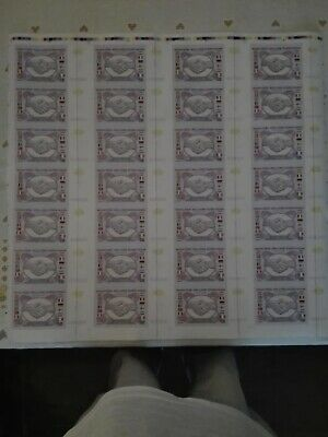28pc one million euro uncut test banknote sheet,no frame
