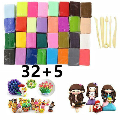 32 Mixed Color Oven Bake Fimo Polymer Soft Clay Modelling Sculpey  Moulding DIY