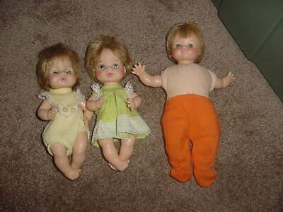 "VINTAGE LOT OF 3 HORSMAN BABY DOLLS 9"" & 10""TALL 1970 1968 & 1970s 701"