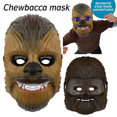 Star Wars Force Awakens Chewbacca LED Light Mask Voice Halloween Gift for Party