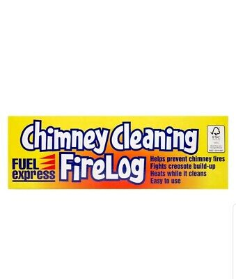 2x Chimney Cleaning Log Coal Fires Wood Burning Creosote Stove