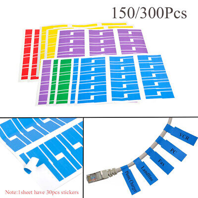 Wire Network Identification Tags Fiber Organizers Stickers Cable Labels