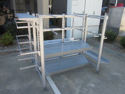 Mobile...display Rack, Display Stand. Shelves & Hangers