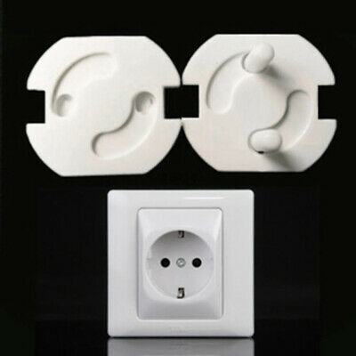 10 Child Safety EU Plug Socket Covers Mains Electrical Protector Inserts Guard