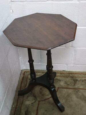Mahogany Pedestal Octaganal Hall / Occasional / Side Table