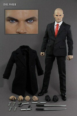 """Dreamer 1:6 Scale Hitman 47 12"""" Male Killer Action Figure Set Model Toy Collect"""