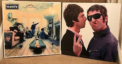"""2 Different Oasis/Gallagher Brothers  15""""x15"""" On A Wooden Stretcher Frame"""