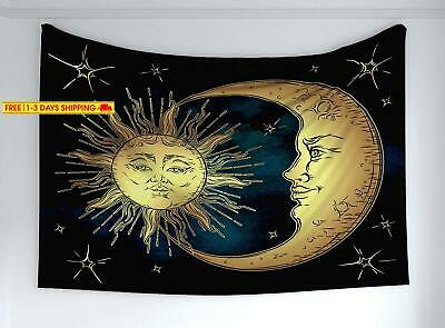 Ambesonne Psychedelic Tapestry, Sacred Moon And Sun In Antique Style Lunar Myth