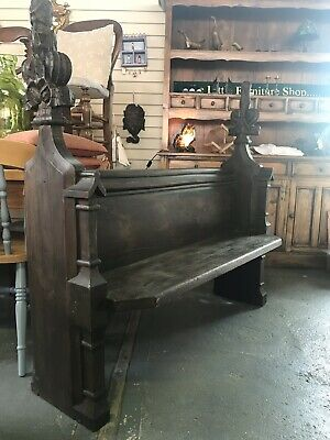 Solid Pitch Pine Monks Bench Pew Settle Bench Window Hallway Seat