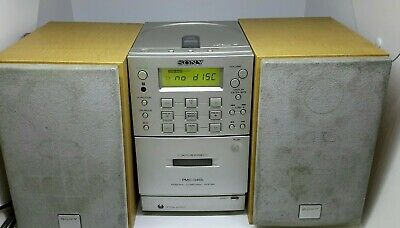 Retro Sony Hi Fi System PMC-D40L Compact Stereo  CD, Tape, Line-out/Aux