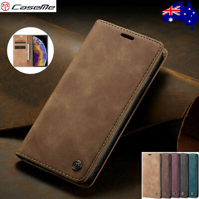 CaseMe Magnetic Leather Wallet Card Stand Case iPhone 11 Pro Xs XR Max 8 7Plus