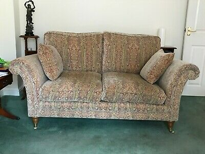 2 matching Parker Knoll 2 Seater Burghley with matching foot stool and cusions