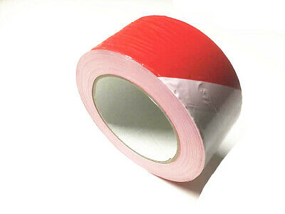 Caution Safety Barrier Tape Red/White 5cm(w) x200m(L) Brand New