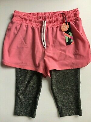 Age 6 Girls NEXT Pink & Grey Leggings & Shorts Sportswear  RRP £11