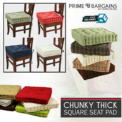 New Chunky Booster Square Cushion Floor Chair Seat Pad Garden Home Room Office