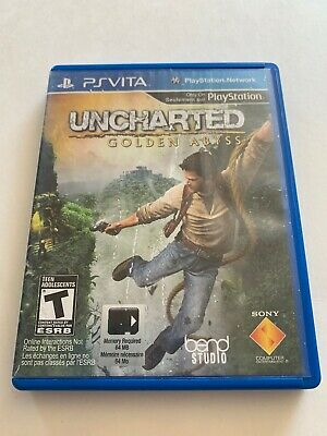 Uncharted Golden Abyss (Sony PlayStation  PS Vita, PSV) Game & Case
