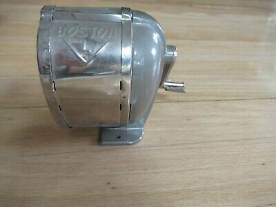 Vintage Boston L Pencil Sharpener Hunt Manufacturing Comp Table Wall Mount