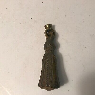 Antique large top of the line brass heavy tassel finial for shade light fixture