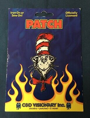 Dr Seuss The Cat In The Hat Animated Things 1 /& 2 Running Embroidered Patch NEW