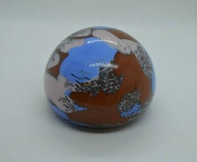 Guernsey Island Studio Glass paperweight with lion pontil mark