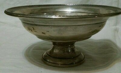 """Antique Hamilton Weighted Sterling 9"""" diameter Footed Fruit Bowl"""