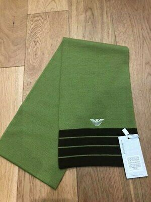 Brand new  AJ / ARMANI wool scarf in green  Junior label but suitable for adult
