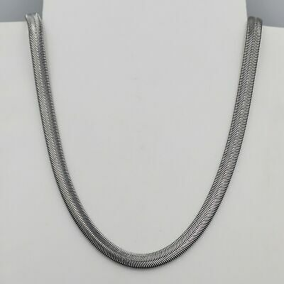 6mm High Quality Silver 316L Titanium Stainless Steel Snake Chain Necklace 22""
