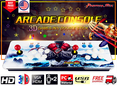 Hot Pandora Box 9S 2070 Retro Video Games Double Stick 3D&2D Arcade Console US
