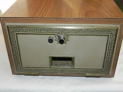 Rare Large Vintage Post Office Brass Door Security National 1965 w/ Combination