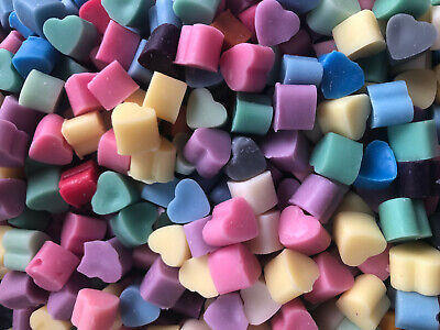 Handmade Mini Heart Soy Wax Melts Highly Scented 5,20,40 Variety of Scents