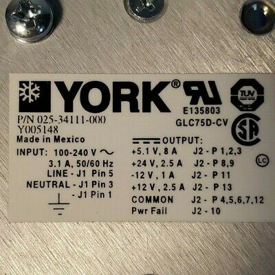 York 025-34111-000 Power Supply