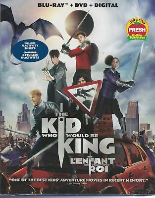 The Kid Who Would Be King Bluray & Dvd & Digital Set Brand New Sealed