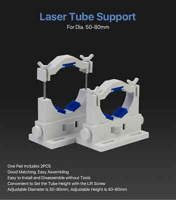 Cloudray Co2 Laser Tube Holders Flexible Dia.50-80mm Plastic Tube Support Rack