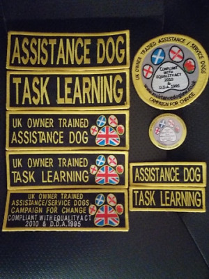UK Owner Trained Assistance/Service Dogs Embroidered patches *END OF STOCK*