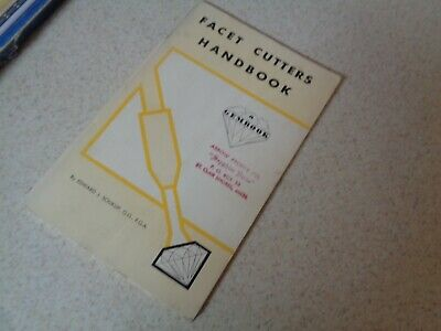 Vintage - Facet Cutters Handbook-1962 by Edward Soukup-Cutting & Polishing Gems