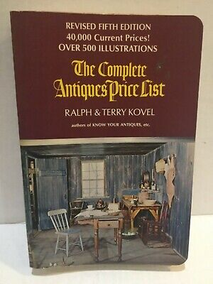 1972 The Complete Antiques Price List By Ralph & Terry Kovel