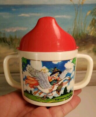 Mother Goose Childs Toddler Sippy Tippy Cup Fraser Collection Melamine Double...