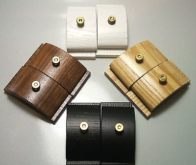 Large Quilt Hang Ups Clips Clamps Hangers Wood Set 2 CHOOSE FINISH
