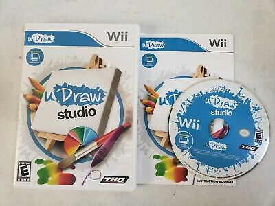 uDraw Studio (Nintendo Wii, 2010) Complete Game Only Fast Shipping