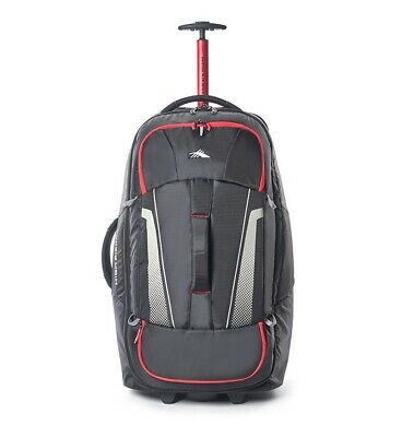 High Sierra Composite V3 76cm RFID Wheeled Duffle With Backpack Straps Black