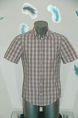 Pretty Sports Shirt Pink Chequered Hugo Boss SIZE S Mint