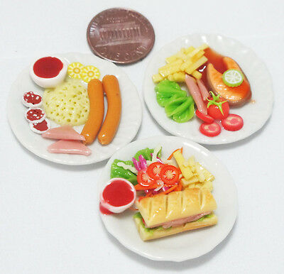 3 Lovely Mix Dollhouse Miniature Food, Barbie Food