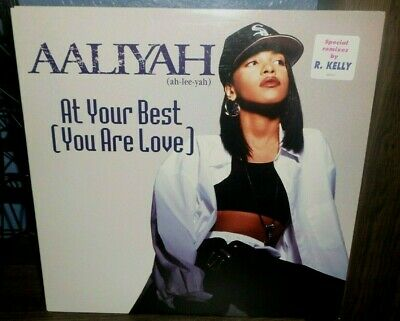 "Aaliyah At Your Best Your Love 12"" Promo Record Age Ain't Nothing But A Number"