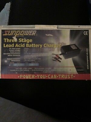 SUN POWER  Three Stage Lead Acid Battery Charger 12V 1.5A