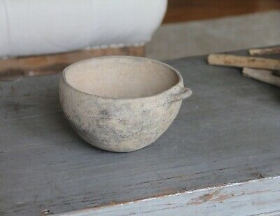 Antique Clay Greek Roman Pottery Earthy Bowl Jug Clay Collectable Vase Sculpture