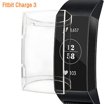TPU Silicone Protective Case Cover Shell Protector for Fitbit Charge 3